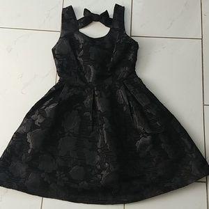 Black Rose Brocade  Bow Back Dress NEW